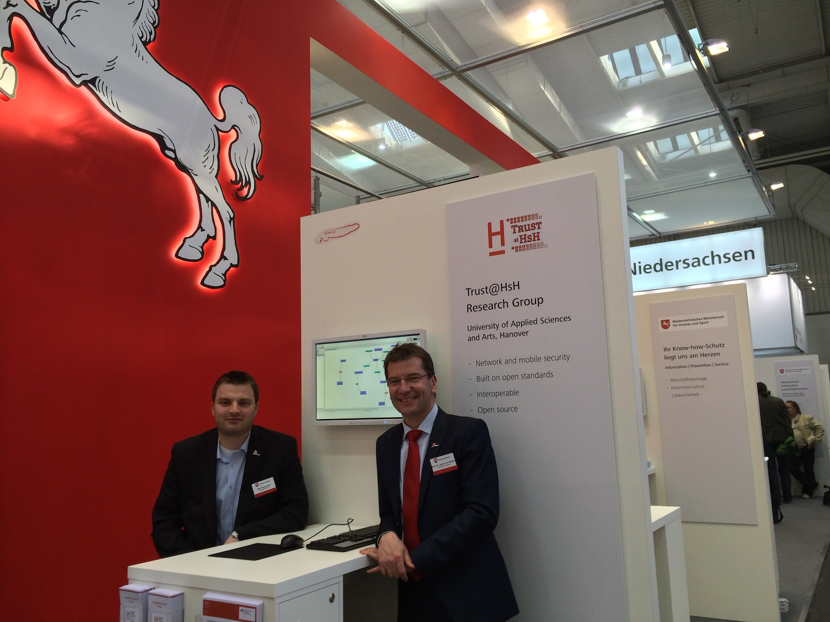 Booth of Trust@HsH at Cebit 2014