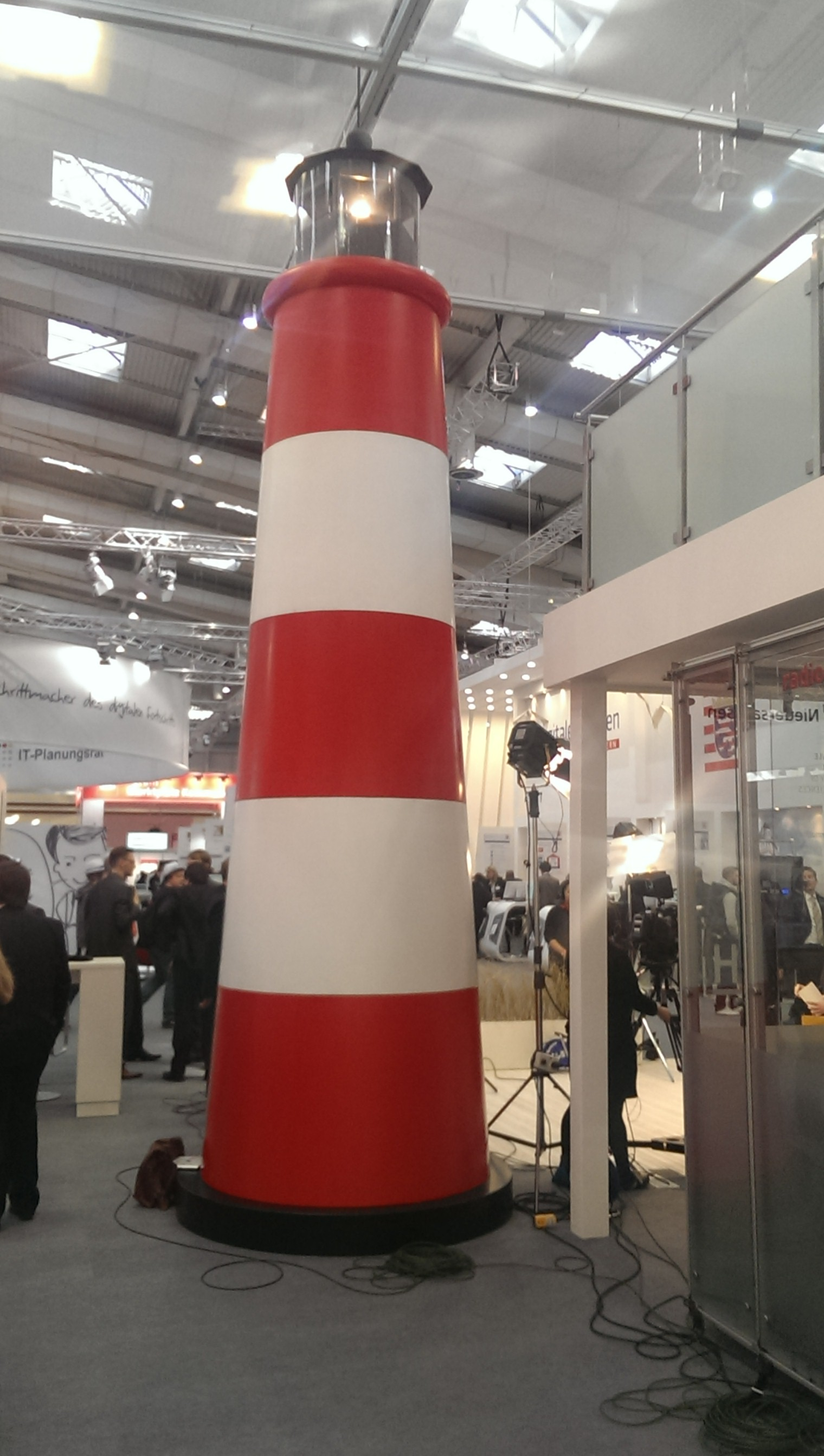 Lighthouse at booth